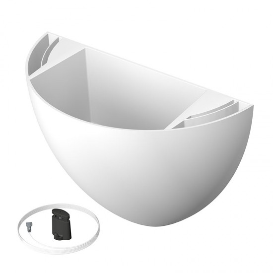 Artiteq 7600.110 Botaniq 1,25L white hanging plant pot to hang plants on your wall from your picture hanging system