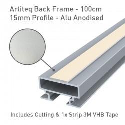 Back Frame Profile 15mm Alu Anodised - 100cm