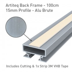 Back Frame Profile 15mm Alu Brute - 100cm