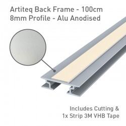 Back Frame Profile 8mm Alu Anodised - 100cm