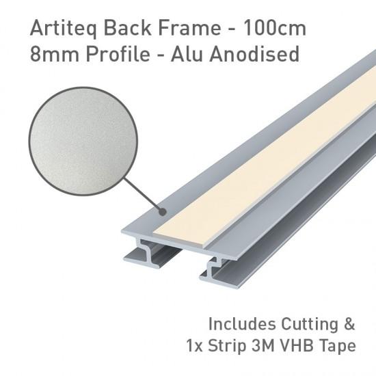 Artiteq Back Frame Profile 8mm Alu Anodised - 100cm
