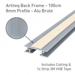 Back Frame Profile 8mm Alu Brute - 100cm