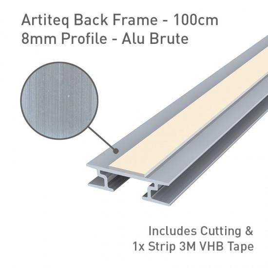 Artiteq Back Frame Profile 8mm Alu Brute - 100cm