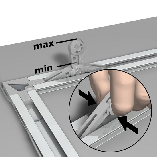 05.16040 Back Frame Flex Bumber to use with Artiteq's subframe system to fully avoid tilting