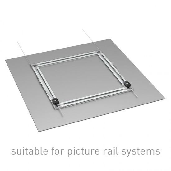 Artiteq 05.17010 Back Frame Power Corner Set of 4 for 15 millimetre subframe profile to hang pictures printed on alu, Dibond, plexiglass, PVC panels or glass