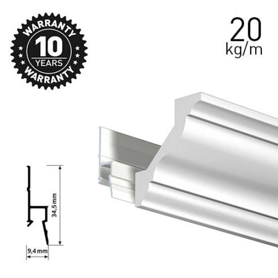 Artiteq Deco Rail White Primer 200cm