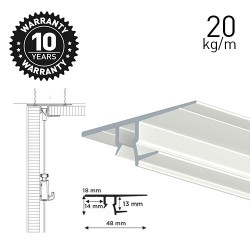 Shadowline Drywall White 250cm - 12.5 mm Plasterboard