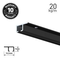 Top Rail Black 200cm