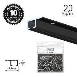 Top Rail Black 200cm KIT