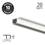Top Rail White 200cm