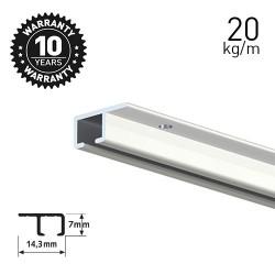Top Rail White 200cm