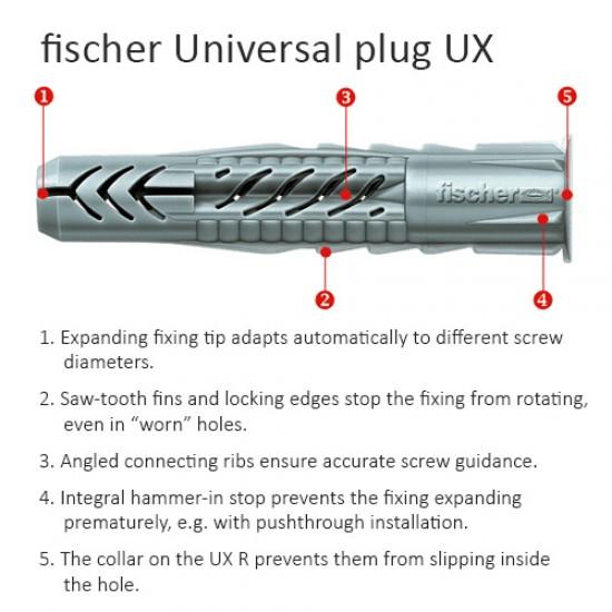 Fischer Wall Plug UX 5 x 30mm - 10pcs