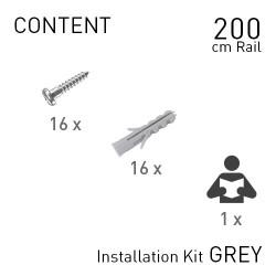 Fastener Kit Top Rail 200cm Grey
