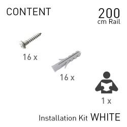 Fastener Kit Top Rail 200cm White