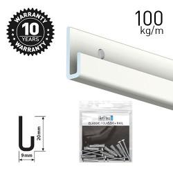 Classic Rail+ White 200cm KIT