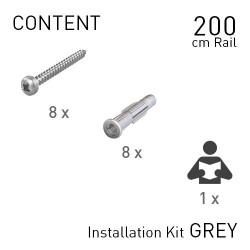 Fastener Kit Classic Rails 200cm Grey