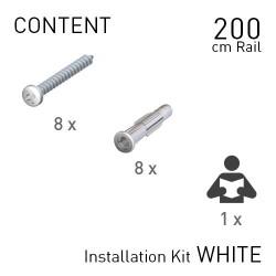 Fastener Kit Classic Rails 200cm White