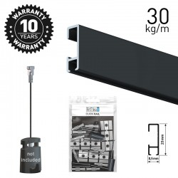 Click Rail Black 200cm KIT