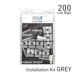Click Rail Alu Brushed 200cm KIT