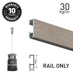 Click Rail Alu Brushed 200cm