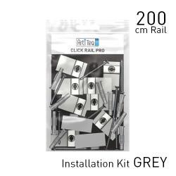 Click Rail Pro Alu Brushed 200cm KIT