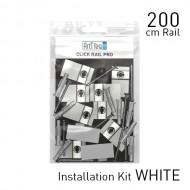 Fastener Kit Click Rail Pro 200cm White