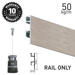 Click Rail Pro Alu Brushed 200cm