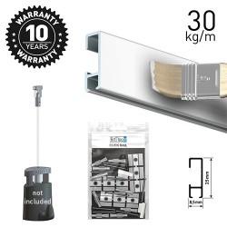 Click Rail White Primer 200cm KIT