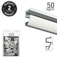 Combi Rail Pro Light White 300cm