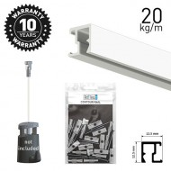 Contour Rail White Primer 200cm KIT