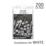 Fastener Kit White ▪ Contour Rail 200cm
