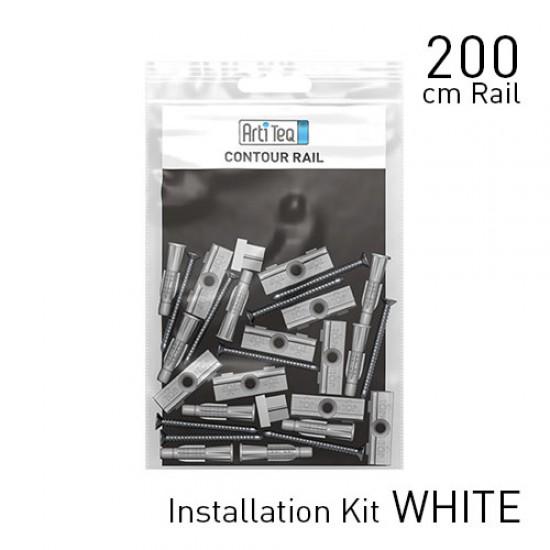 Artiteq Fastener Kit Contour Rail 200cm White