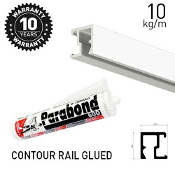 Contour Rail Glued White Primer 200cm