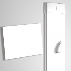 Card Rail White 114cm