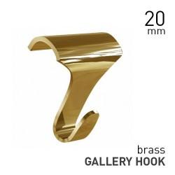 Gallery Hook Large Brass