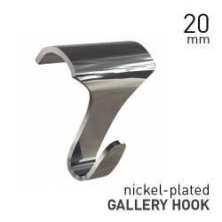 Gallery Hook Large Nickel-plated