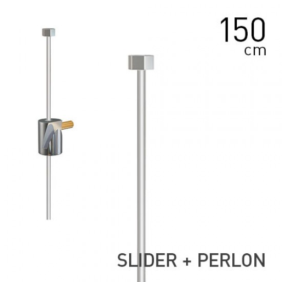 Round Hook Brass + Slider + Perlon Set ▪ 2mm ▪ 150cm