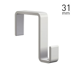 Panel Hook 31mm White