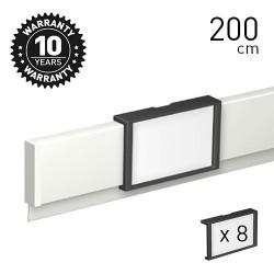 Info Rail 'me' White 200cm