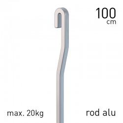 Gallery Rod Aluminium 4x4mm S-Bend Grey 100cm