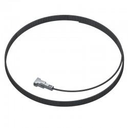 Twister Slimline 1mm Black Steel 150cm