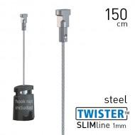 Twister Slimline 1mm Steel 150cm