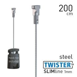 Twister Slimline 1mm Steel 200cm