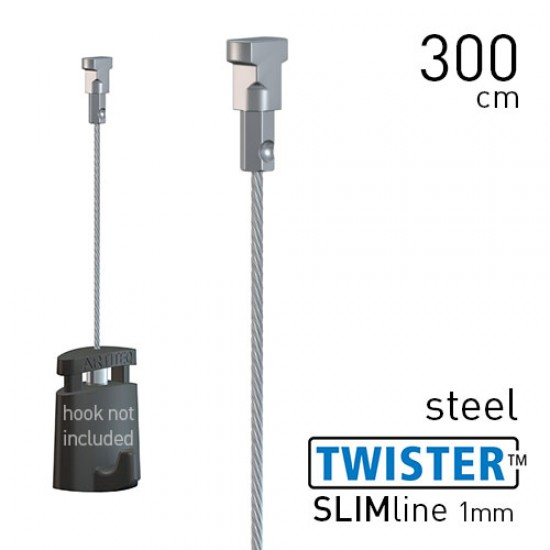 Twister Slimline 1mm Steel 300cm