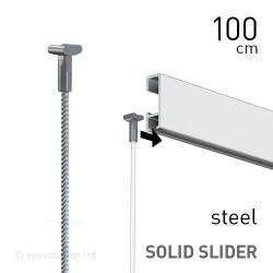 Solid Slider 2mm Steel 100cm