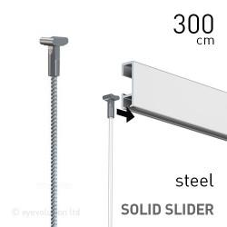 Solid Slider 2mm Steel 300cm