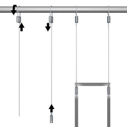 Loop Hanger Set for Aluminium Frames