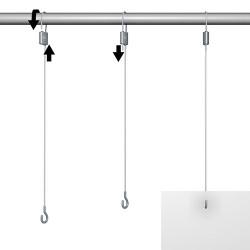 Loop Hanger + Steel Cable with Hook Set