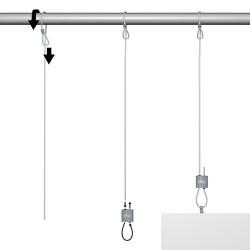 Loop Hanger + Steel Cable with Loop Set