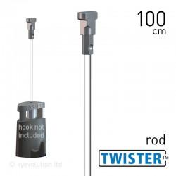 Twister 2mm Rod White 100cm